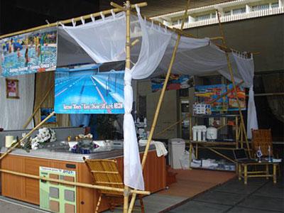 Спа бассейны от Мир Спа на выставке в Ялте. 2009 год
